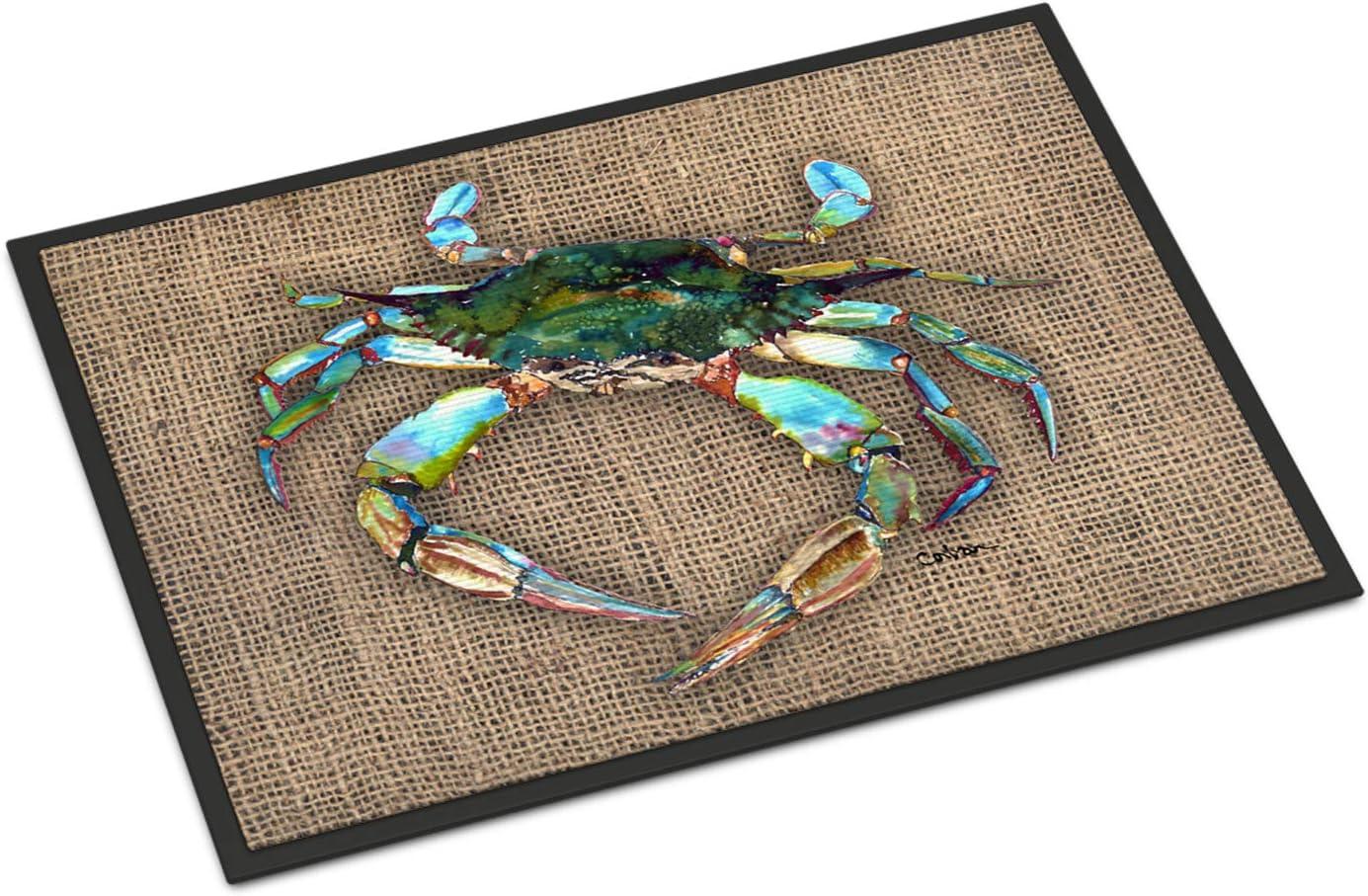 Caroline's Treasures 8731JMAT Crab Indoor or Outdoor Mat 24x36 Doormat, 24H X 36W, Multicolor