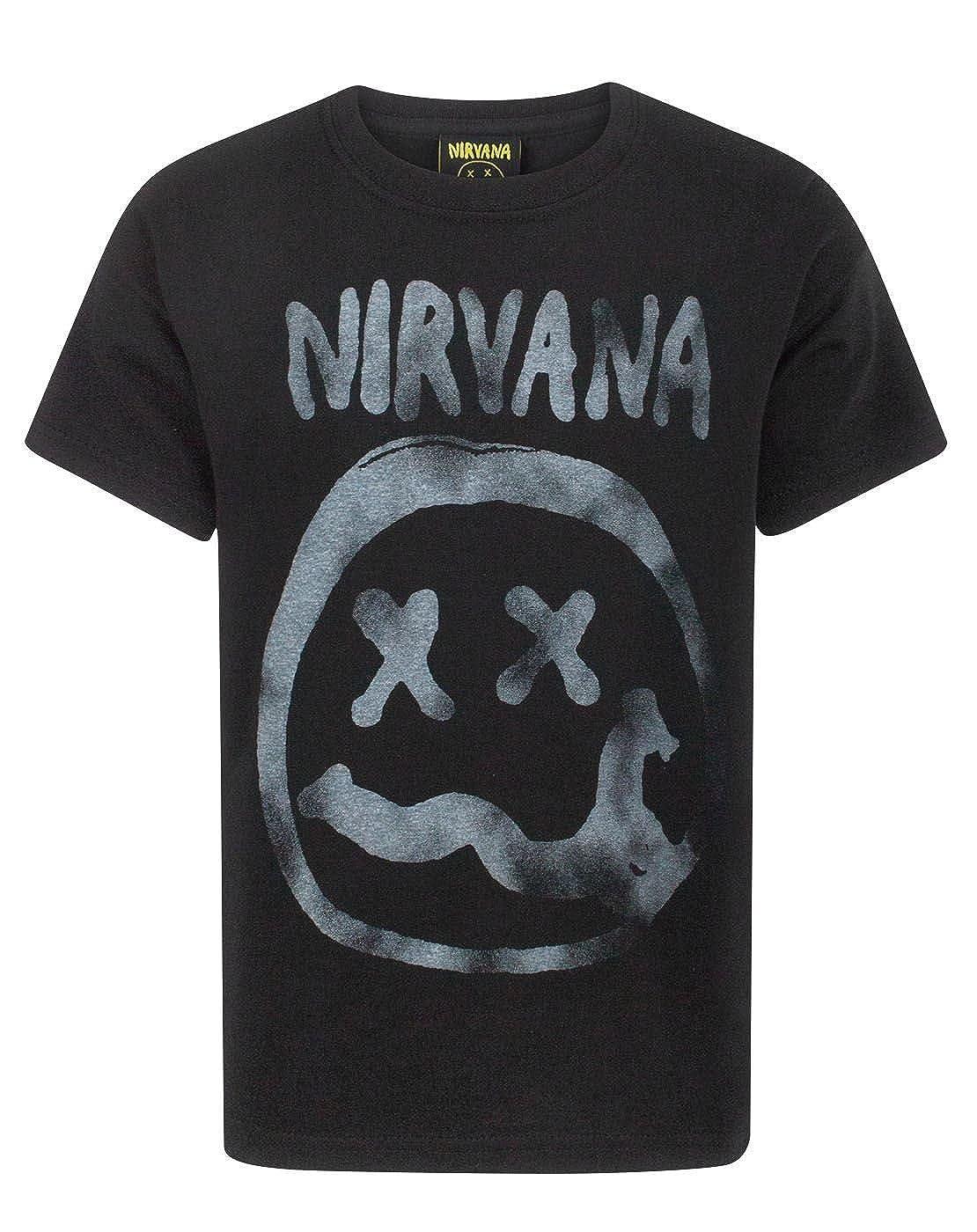 Nirvana Smiley Logo Boys T-Shirt