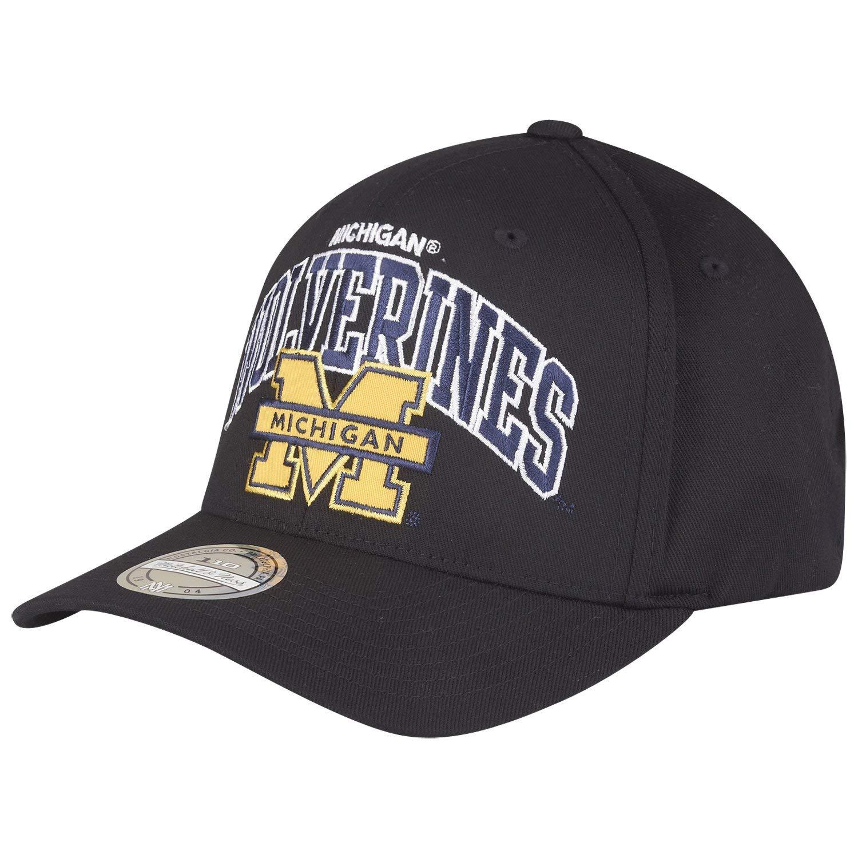 Mitchell & Ness Michigan Wolverines Team Arch 110 Flexfit Snapback ...