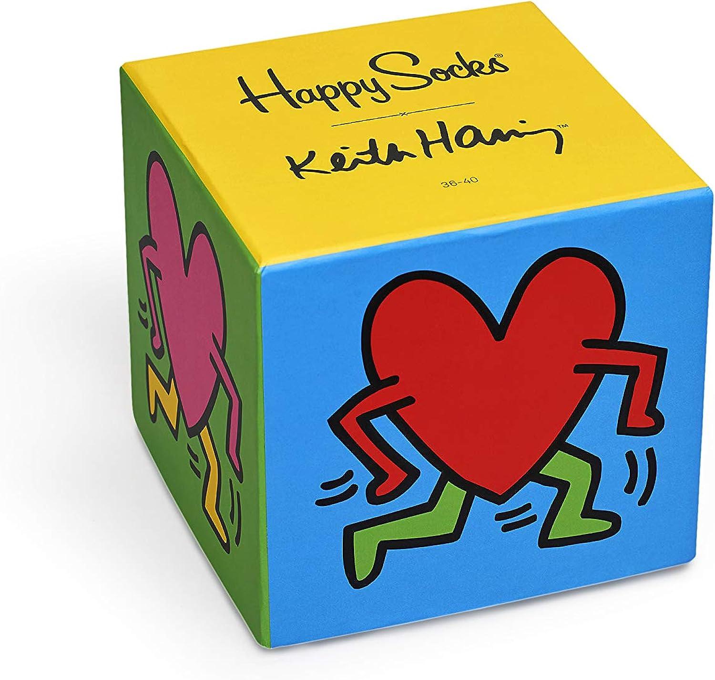 Happy Socks Keith Haring Sock Box Set Calcetines, 41/46 ES (Pack ...