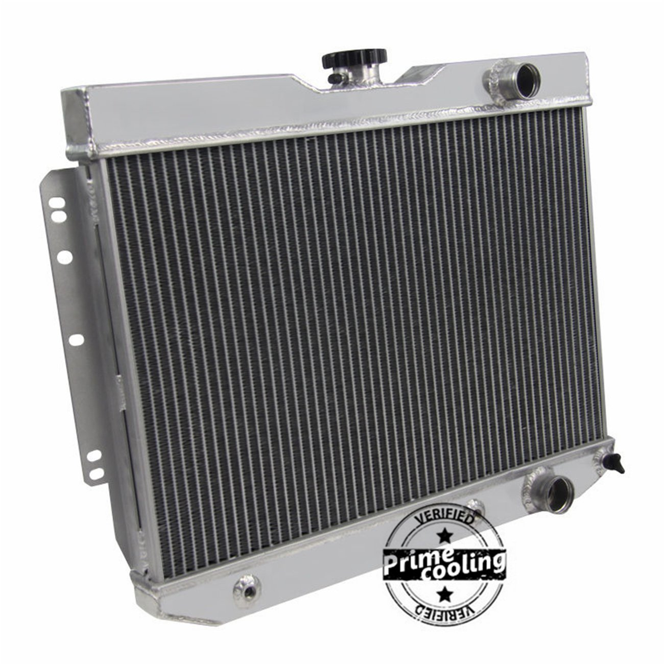 Primecooling 3 Row All Aluminum Radiator For 1959 1965 1966 Chevrolet Bel Air Biscayne Caprice Impala Kingswood 38 67l Automotive