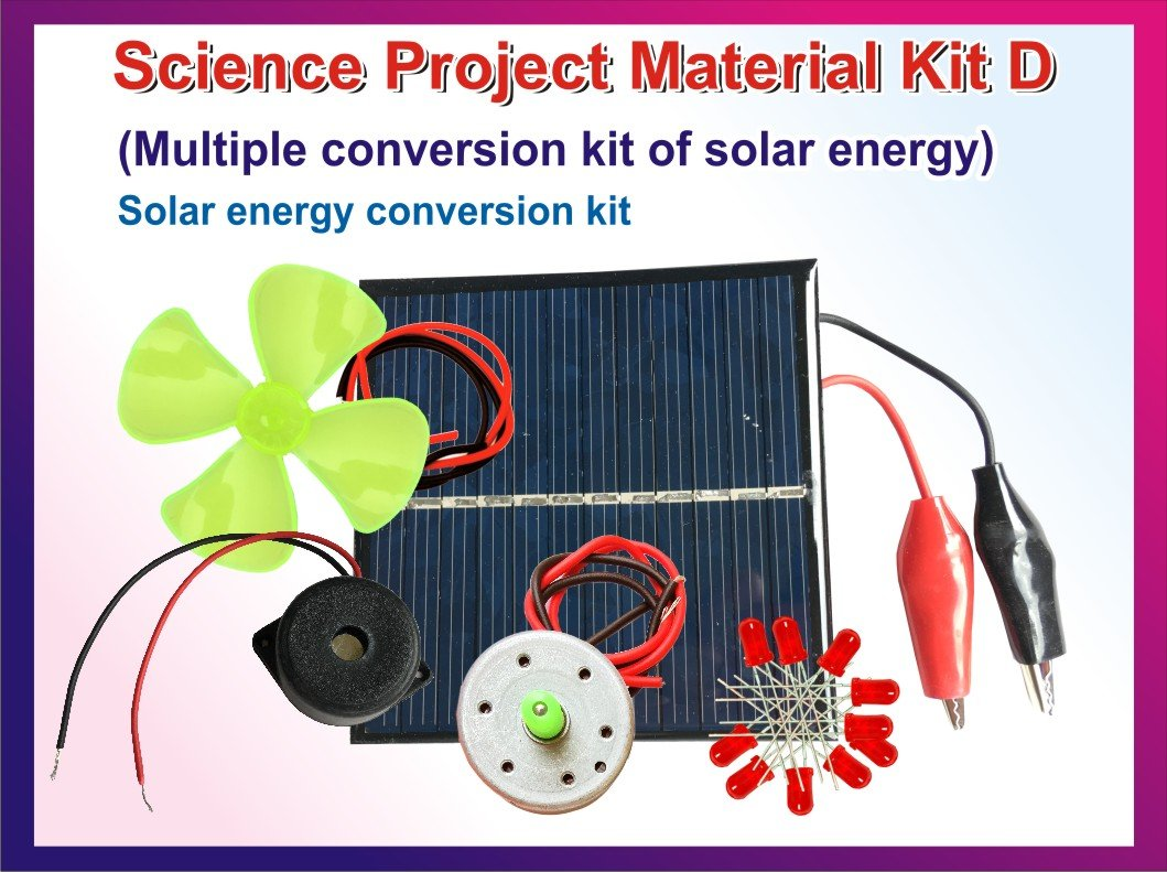 Buy Stepstodo With Device Science Project Material Set D Solar By Electronic Projects Electrical Energy Conversion Kit Activity Manual Online At Low Prices In India Amazon