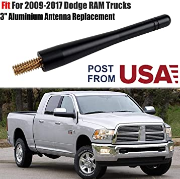 "SHORT 4/"" Aluminum Antenna Mast  For 2009-2017 Dodge Ram Truck 1500"