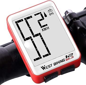 DOOK Bicicleta Cuentakilometros Bicicleta Velocimetroautomático ...