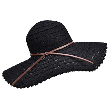 80a2be1c Collocation-Online Women Summer Foldable Beach for Vacation Breathable  Straw Hat, Adjustable at Amazon Women's Clothing store: