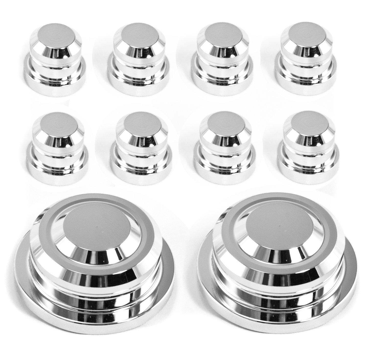 2005-2010 Mustang Front Strut Tower Cap Covers and Nut Covers 10pc VMS Racing