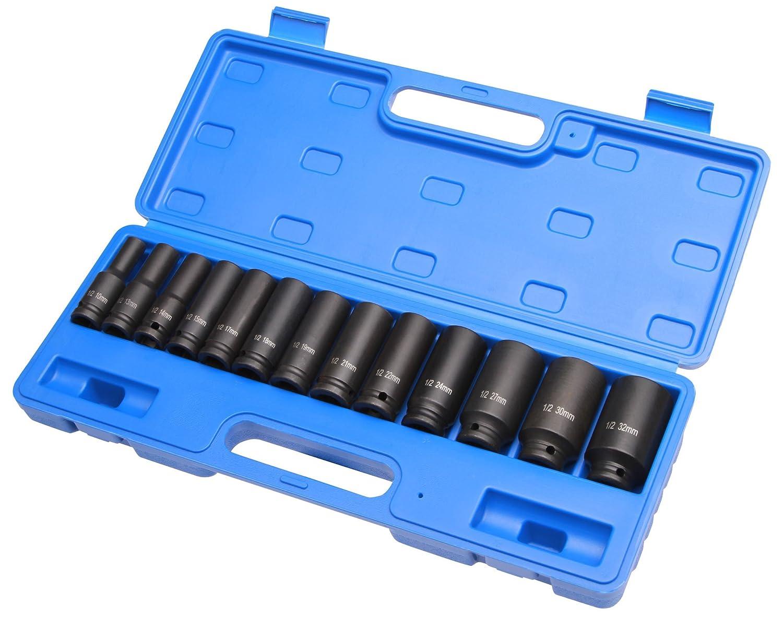 Coffret Douilles /à choc 13 pi/éces 1//2 10-32 mm