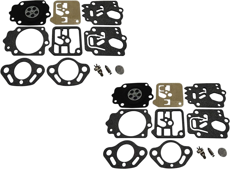 C/·T/·S Kit de r/éparation//Reconstruction de carburateur Remplace Tillotson RK-33HK pour Stihl 034 avec 038 Lot de 2