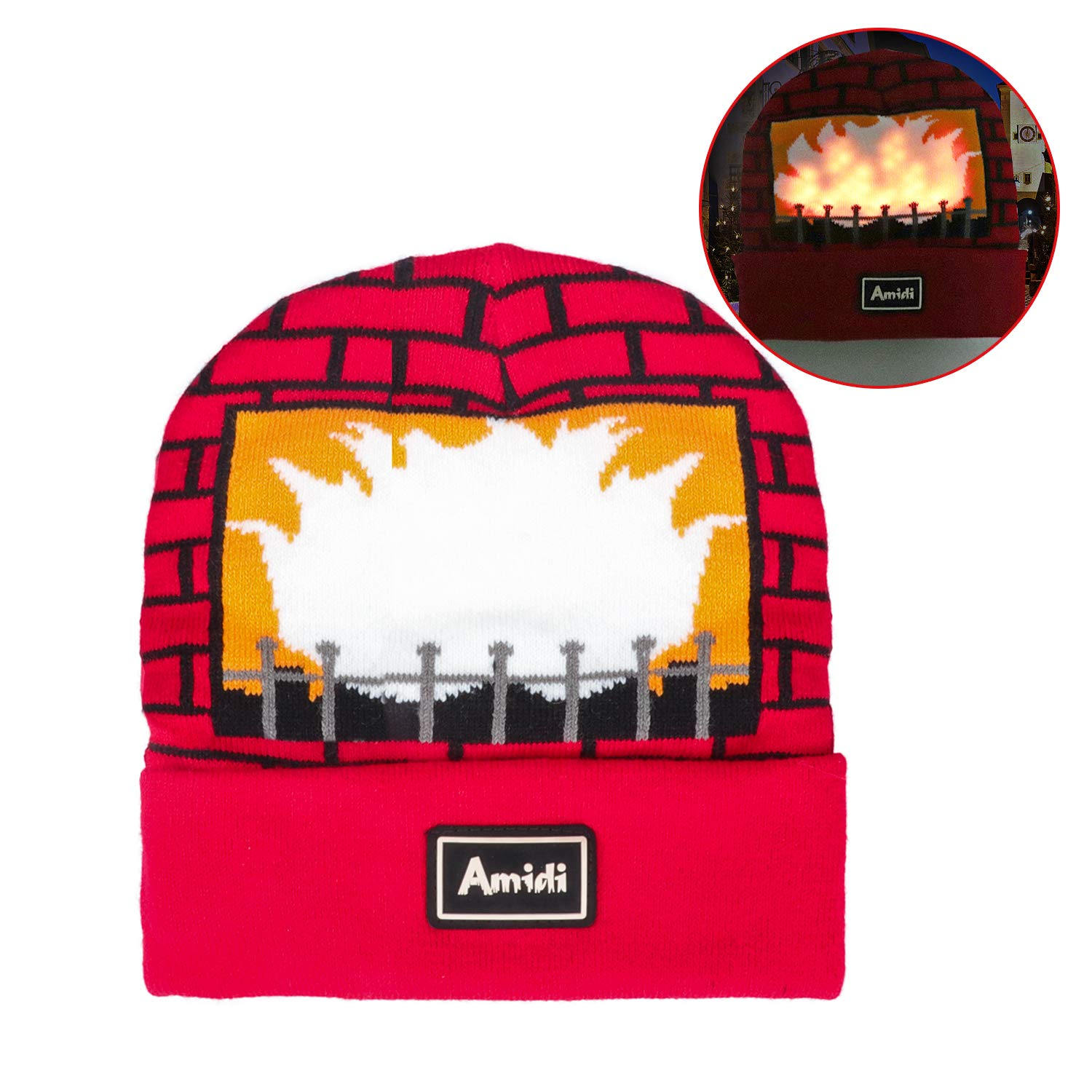 Amazon.com  DX DA XIN Light up Hat Beanie LED Christmas Hat Adults Women  Men Kids Girls Boys Novelty Funny Hat Gifts  Toys   Games 15a312abbed1