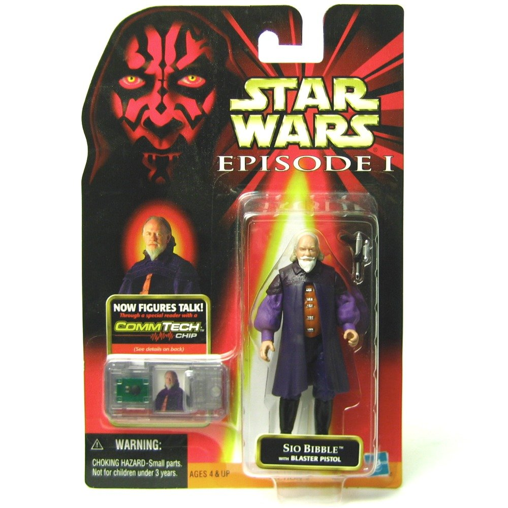 Star Wars Episode I Sio Bibble 3.75 Action Figure with CommTech Chip Hasbro 84257