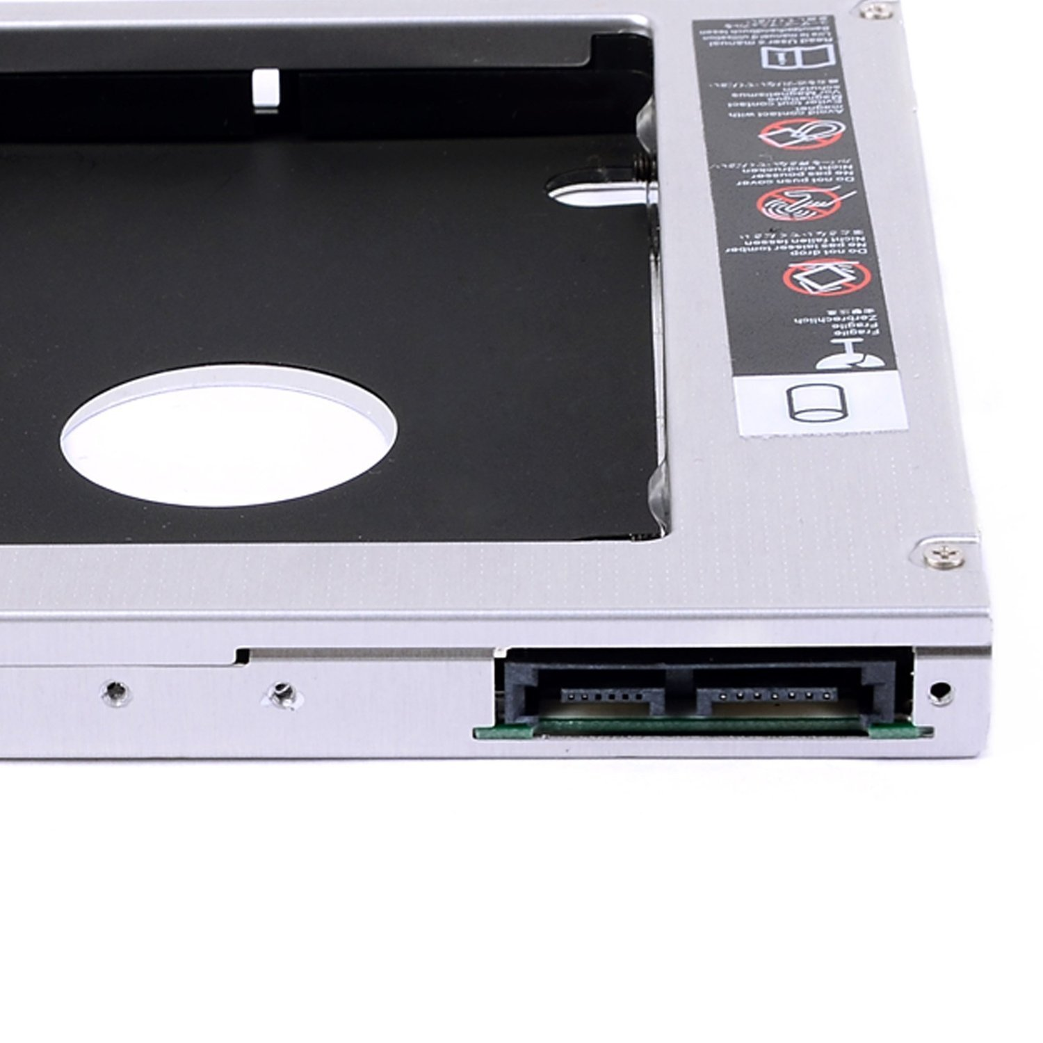 WoneNice NEW SATA 2nd HDD caddy for 9.5mm Universal CD/DVD-ROM ACER BENQ HP DELL ASUS by WoneNice (Image #3)