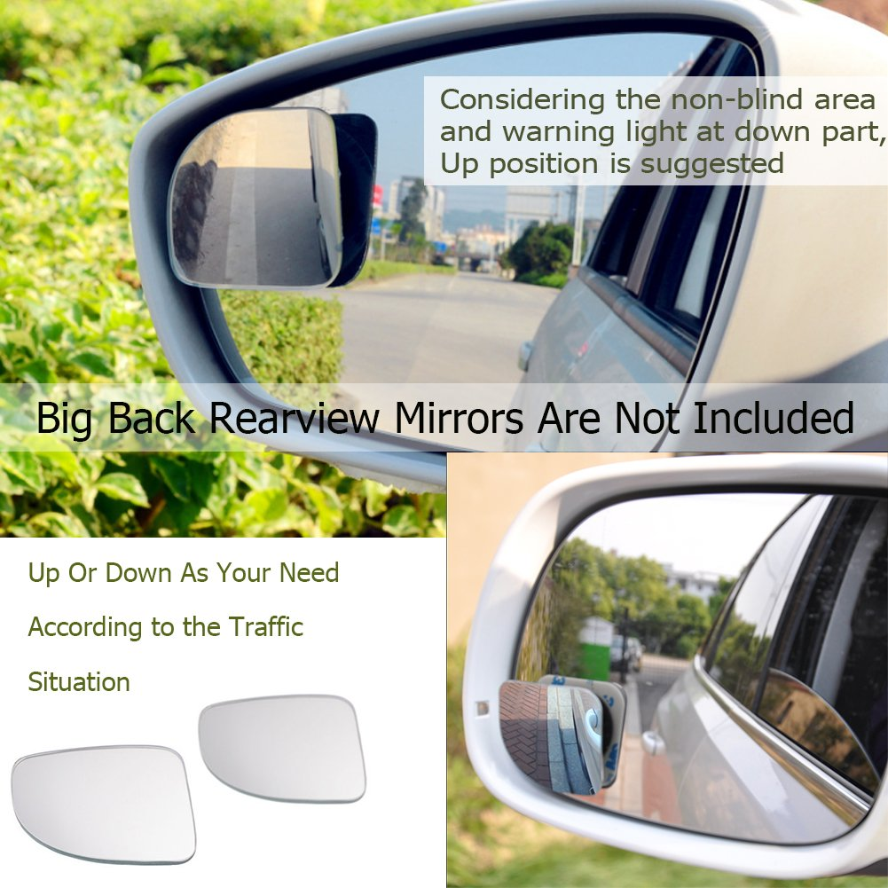 Adjustable Car Auxiliary Universal Wide Angle Mirror for Universal Cars Rectangle-2pcs WildAuto Blind Spot Mirrors