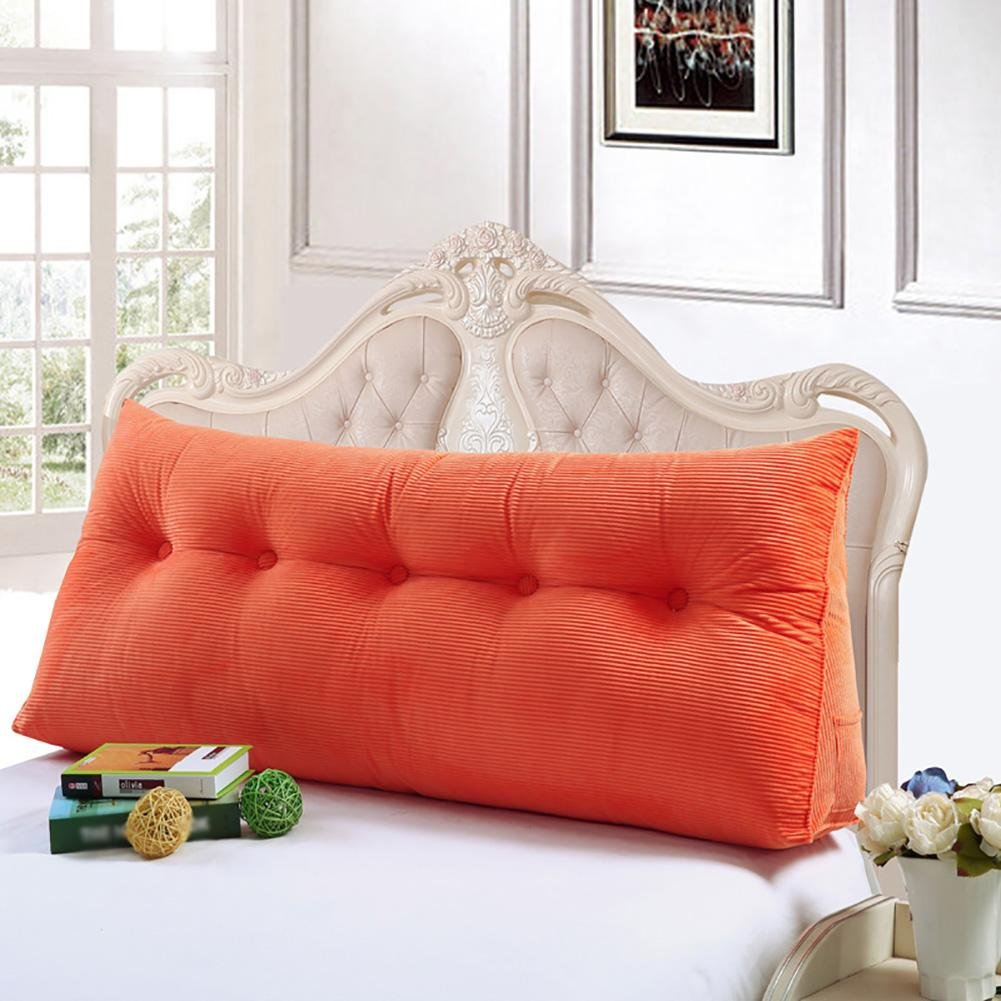 FLHSLY Triangle Double people Big backrest Lumbar support cushions Reading pillows Washable Lovers Big cushions , orange , 150cm