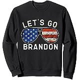 Let's Go Brandon American Flag Sunglasses Sweatshirt