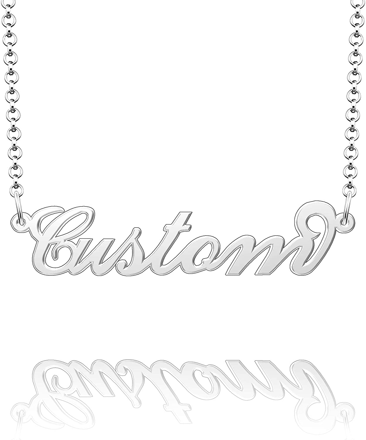 Moonlight Collections Sterling Silver Custom Name Necklace Monica Personalised Necklace