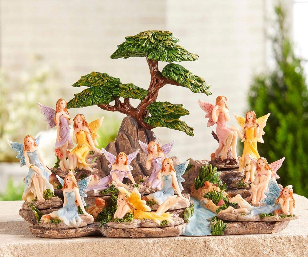 Fairy Garden Mini - Enchanted Garden Fairies - Set of 12