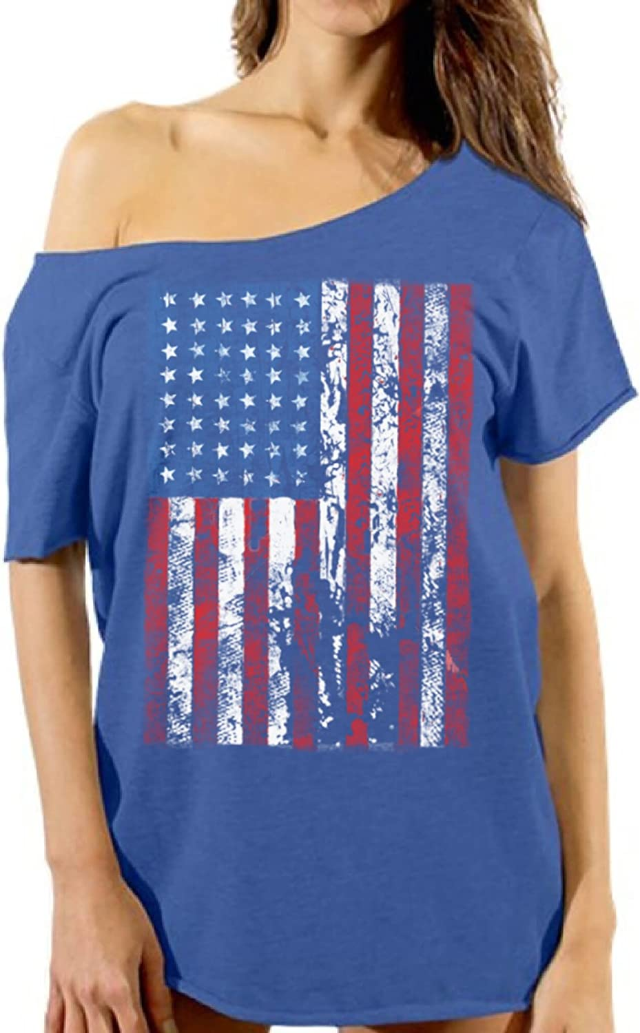 NEW /& OFFICIAL! Fall Out Boy /'US Flag/' Womens Fitted T-Shirt