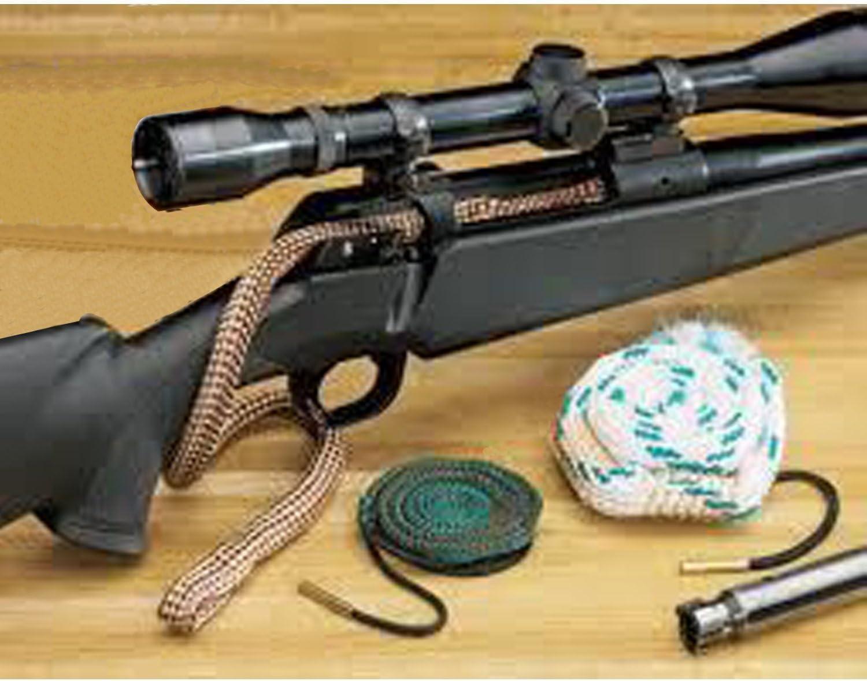 EAmber Bore Cleaner Snake Cleaning Kit Supplies Caliber Rifle Pistol Barrel Brush for .22 5.56 .308 7.62 Pistol 9mm 40 Cal 12//20 Gauge,2 Pcs