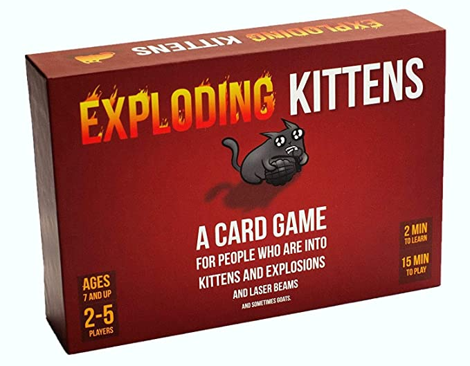 Exploding Kittens Card Game - Family-Friendly Party Games - Card Games For Adults, Teens & Kids: Amazon.co.uk: Toys & Games