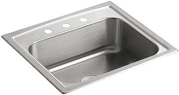 kohler k 3348 3 na toccata single basin self rimming kitchen kohler k 3348 3 na toccata single basin self rimming kitchen sink      rh   amazon com