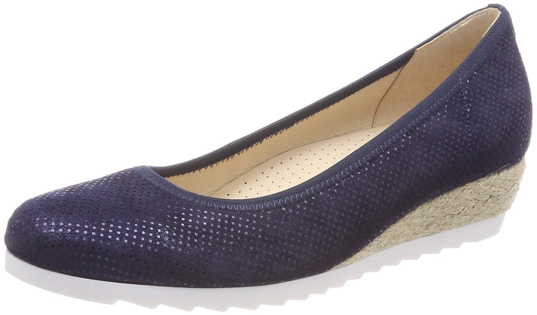 Gabor Epworth Womens Modern Ballerina Shoes B0763S5Y3G 5.5 C (M) UK/ 7.5 B(M) US|Nightblue Jute
