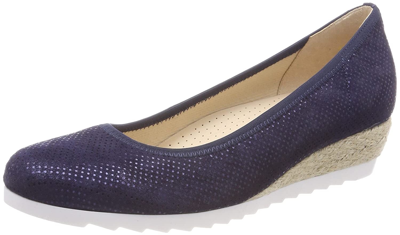 Gabor Damen blau Comfort Sport Geschlossene Ballerinas, blau Damen Blau (NightBlau (Jute)) 633d38