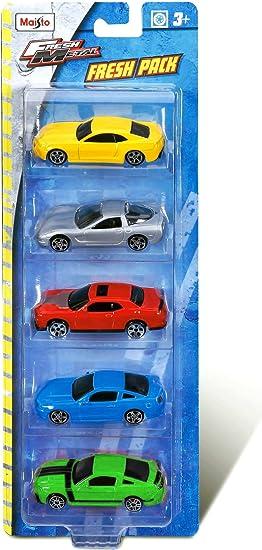 Maisto Pack 5 coches 1:72 colección metal 7cm, multicolor (15017P ...