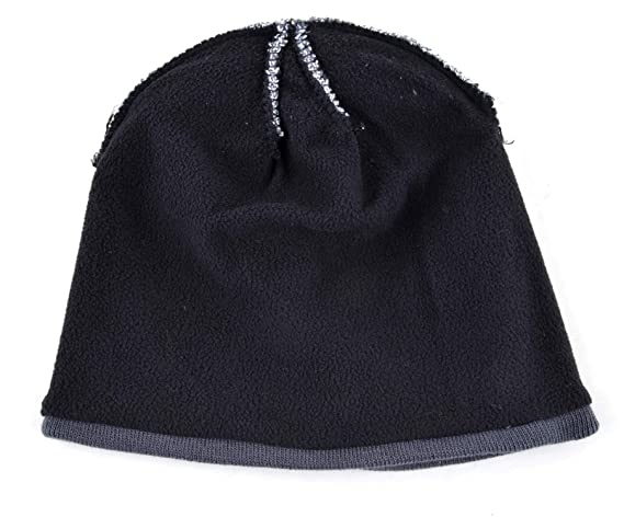 cd1ec811e61bb Men sHat Bonnet Winter Knitted Wool Hat Plus Velvet Cap Thicker Stripe Skis  Sports Beanies Hats for Men Brown at Amazon Men s Clothing store