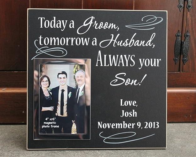 Amazon.com: 12x12, Today a groom tomorrow a husband always your son ...