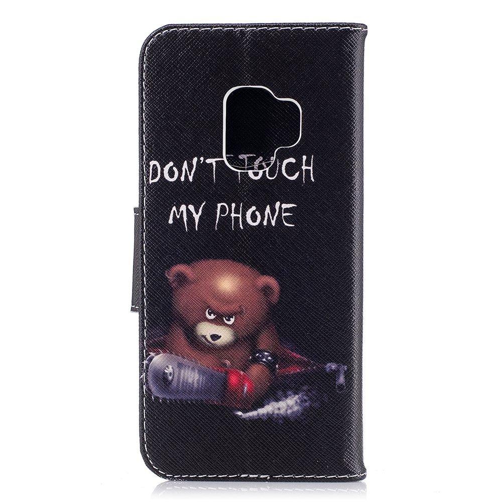 Wholesale 100pcs/lot Bear Butterfly Multi-patterns Flip Leather Case for Samsung Galaxy S9/S9 Plus/S8/S8 Plus/S7/S7E/S6/S5 etc (Multi-Color) by Vfunn (Image #4)