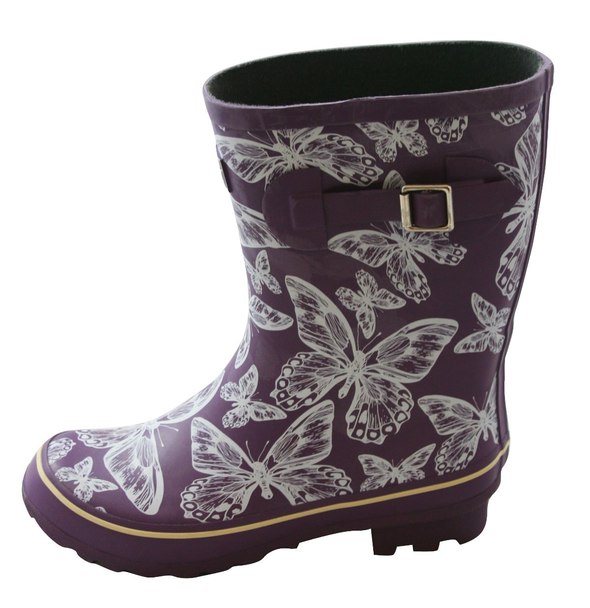 Jileon Half Height Rain Boots for Women - Wide in The Foot and Ankle - Durable All Weather Boots B01EI1D4AO 10 E (US)|Purple