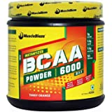 MuscleBlaze BCAA 6000, amino acid powder, 0.88 lb 50 Servings (Tangy Orange)