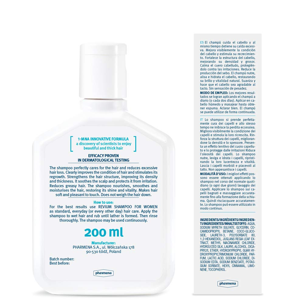 Revium - Champú intensivo anticaída para mujeres con 1 ...