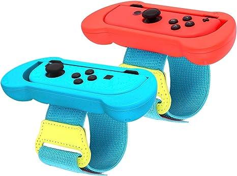 Just Dance 2020 - Muñequera para Nintendo Switch, correa elástica de gancho ajustable para controlador Joy Cons, 2 unidades: Amazon.es: Videojuegos