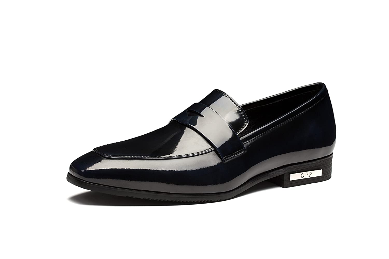 OPP Hombres Flats Zapatos de Piel Zapatos de vestir 44 EU Azul