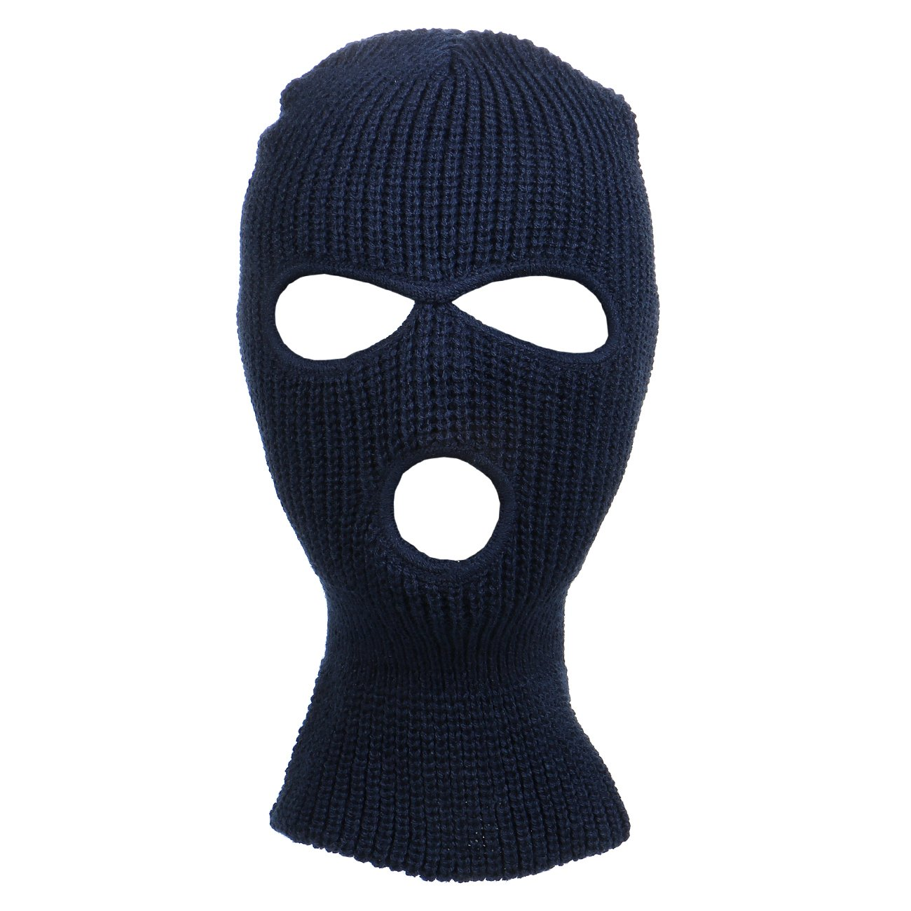 79836c600d2 Knitted 3-Hole Full Face Cover Ski Mask at Amazon Men s Clothing store