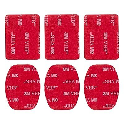 MadridGadgetStore® 6 Kit Pack Adhesivos Stickers Pegatinas 3M Superficie Plana Curvada con Curva para Cámara GoPro Go Pro HD Hero6 Hero5 Hero4 Hero3+ Hero3 Hero 6 5 4 3+ 3 2 1 4K60 Black Silver Session SjCam Sj4000