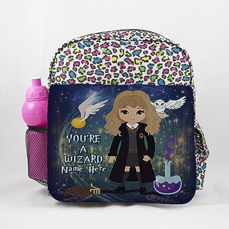 Mochila escolar de Harry Potter con Hermione Et06Impresión animal, mochila para