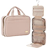 NISHEL Large Hanging Travel Toiletry Bag, Portable Makeup Organizer, Water Resistant Cosmetic Holder for Brushes Set…