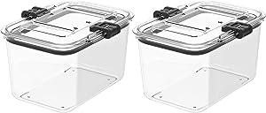 Prepara Latchlok 7.8 Cup Tritan Food Storage Container, Set of 2, Clear