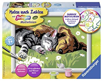 Kit de Pintura por n/úmeros, 1 p/áginas, Child, 9 a/ño Ravensburger 29605 Kit de Pintura por n/úmeros Libro y p/ágina para Colorear s , 85 mm, 120 mm Libros y p/áginas para Colorear
