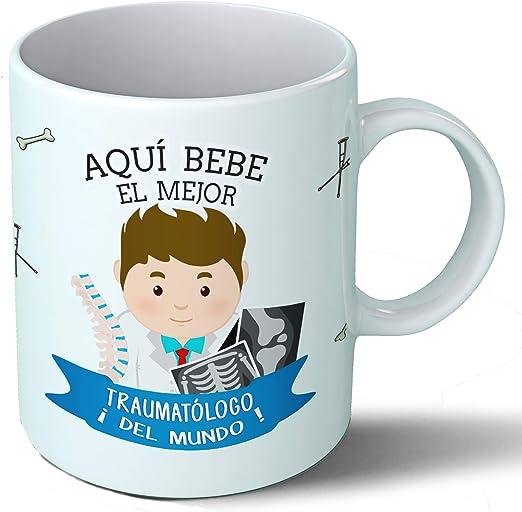 Planetacase Taza Desayuno Aquí Bebe el Mejor traumatologo del ...