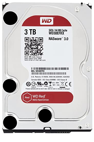 "Western Digital Red NAS Hard Drive 3TB IntelliPower 64MB Cache SATA 6.0Gb/s 3.5"" Image"