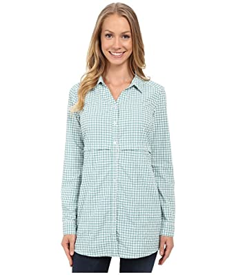 f5189466 Toad&Co Women's Marvista Tunic Dark Turquoise Button-up Shirt at Amazon  Women's Clothing store: