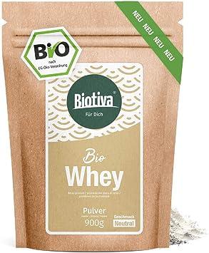 Proteína de suero de leche orgánica 900 g neutral