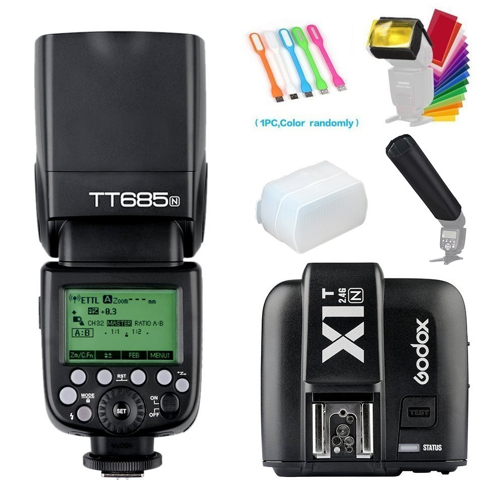 D130 Digital Slr TTL Flash 60D 1D 5DIII 4 Rechargeable AA Batteries 7D with a Complete Starter Kit 6D 5DII 70D 5D 50D Mini Portable Folding Bracket for Canon 40D Home//Car Charger