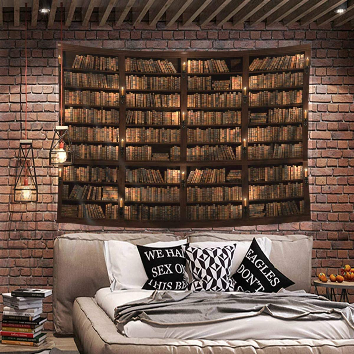 3D Brick Stone Tapestry Wall Hanging Art Room Bedspread Decor Beach Blanket