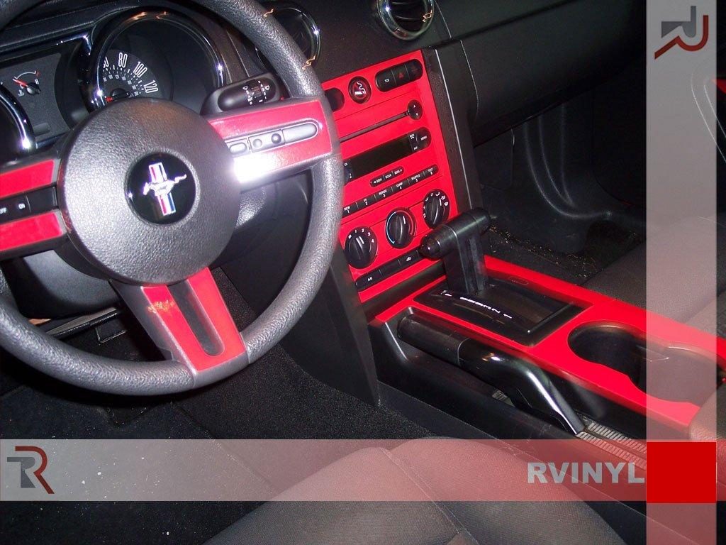 Snake Skin Black Shelby GT500 2007-2009 Rdash Dash Kit Decal Trim for Ford Mustang 2005-2009
