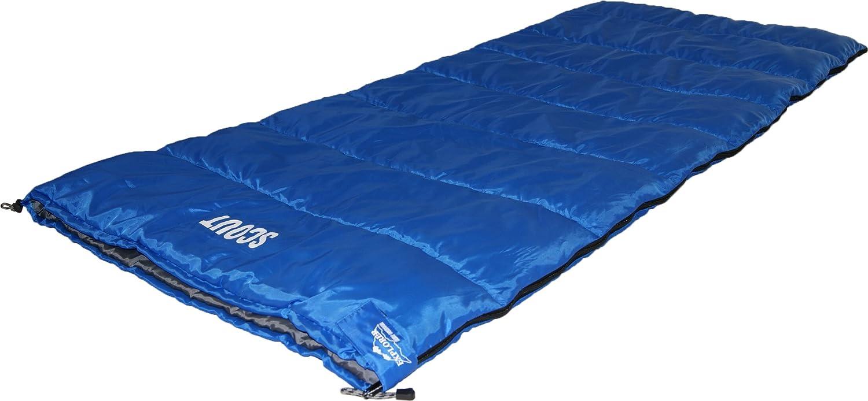 Explorer Duo 4649 - Saco de dormir doble, 180 x 75 cm, color gris y azul: Amazon.es: Deportes y aire libre