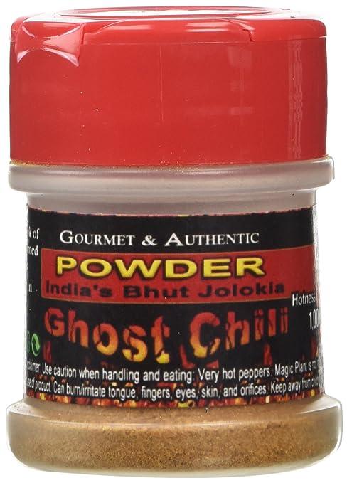 Ghost Chili Powder 1/2oz - Organic, Authentic Indian Bhut Jolokia - 100% Satisfactions Guarantee